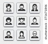 people face set on transparent... | Shutterstock .eps vector #371671846