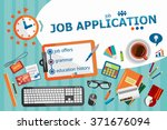 job application design concept. ... | Shutterstock .eps vector #371676094