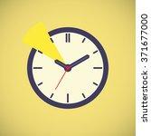 vector icon. clock ticking hour | Shutterstock .eps vector #371677000