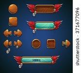 jungle shamans mobile gui set...   Shutterstock .eps vector #371677096