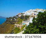 a spectacular view of santorini ... | Shutterstock . vector #371678506
