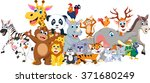 funny animal cartoon collection  | Shutterstock .eps vector #371680249