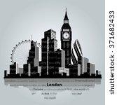 vector illustration. london... | Shutterstock .eps vector #371682433