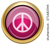 peace icon. internet button on... | Shutterstock .eps vector #371682544