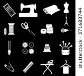 tailor sewing icons set... | Shutterstock .eps vector #371683744