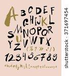 alphabet letters lowercase ... | Shutterstock .eps vector #371697454