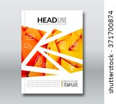 cover report colorful orange... | Shutterstock .eps vector #371700874