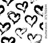 seamless heart pattern. hand... | Shutterstock .eps vector #371702644