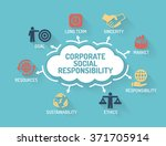 corporate social responsibility ... | Shutterstock .eps vector #371705914