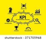 kpi key performance ind       ... | Shutterstock .eps vector #371705968
