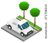 pickup construction isometric... | Shutterstock .eps vector #371708314