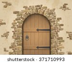 arch of stone with closed... | Shutterstock .eps vector #371710993