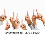people raise hand to be picked...   Shutterstock . vector #37171420