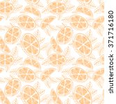 orange. seamless pattern with... | Shutterstock .eps vector #371716180