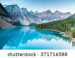 moraine lake in banff national... | Shutterstock . vector #371716588