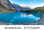 moraine lake in banff national... | Shutterstock . vector #371716600