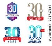 30 years anniversary logo | Shutterstock .eps vector #371717869