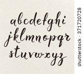 hand written calligraphic... | Shutterstock .eps vector #371720728