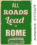 all roads lead to rome ...   Shutterstock .eps vector #371721679