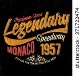 vintage  motorcycle race.... | Shutterstock .eps vector #371722474