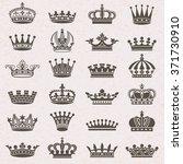 set of crown heraldic... | Shutterstock .eps vector #371730910