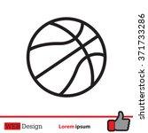 illustration of a basketball... | Shutterstock .eps vector #371733286
