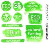 vector collection of eco  bio ... | Shutterstock .eps vector #371736610