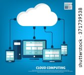 cloud computing   devices... | Shutterstock .eps vector #371739538