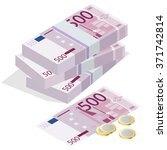 euro banknotes stacks. can be...