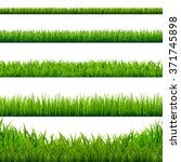 big grass borders set  vector... | Shutterstock .eps vector #371745898