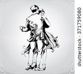 silhouette of a dancing couple | Shutterstock .eps vector #371759080