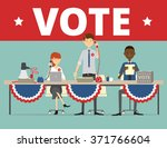 interns working on a political... | Shutterstock .eps vector #371766604