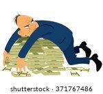 Greedy Businessman With A Bunch ...