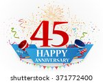 anniversary celebration... | Shutterstock . vector #371772400