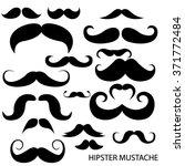 vector set of hipster mustache. ... | Shutterstock .eps vector #371772484