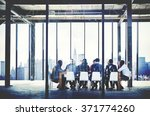 group of multi ethnic people... | Shutterstock . vector #371774260
