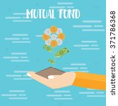 mutual fund investment hand... | Shutterstock .eps vector #371786368