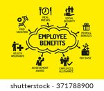 employee benefits. chart with... | Shutterstock .eps vector #371788900