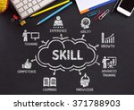 skill. chart with keywords and... | Shutterstock . vector #371788903