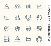 infographics line icon set