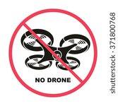 No Drone Fly Zone Icon  Vector...