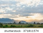 Sunrise View With Mountain In...