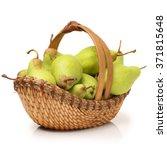 Juicy Flavorful Pears In Baske...