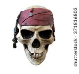 Pirate Skull  Isolated On Whit...