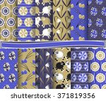 set of easter vector paper with ... | Shutterstock .eps vector #371819356