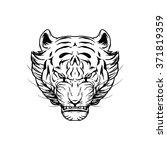 tiger head | Shutterstock .eps vector #371819359