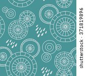 cute hand drawn pattern with... | Shutterstock .eps vector #371819896