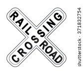 railroad crossing sign | Shutterstock .eps vector #371832754