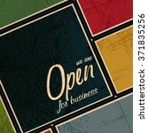 open for business retro style... | Shutterstock .eps vector #371835256