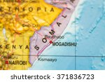 photo of a map of somalia  and... | Shutterstock . vector #371836723